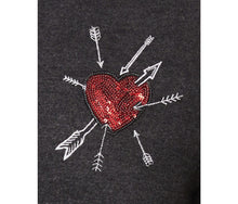 LOVE IS ALL THERE IS SWEATSHIRT CHARCOAL - APPAREL - Betsey Johnson