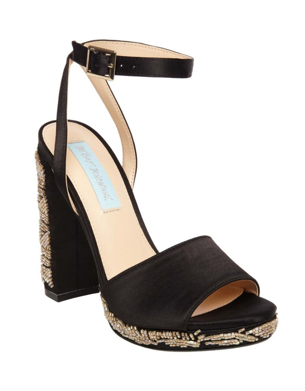 SB-CARIN BLACK SATIN - SHOES - Betsey Johnson