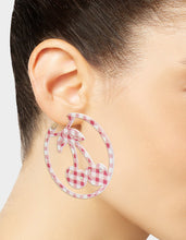 SUMMER PICNIC GINGHAM CHERRY EARRINGS PINK - JEWELRY - Betsey Johnson