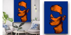 """Blue Man"" Welcome to Las Vegas Collection by CutZy McCall"