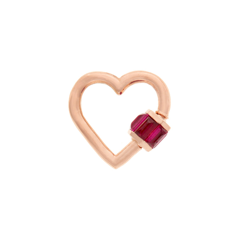 RUBY TOTAL BAGUETTE HEART LOCK
