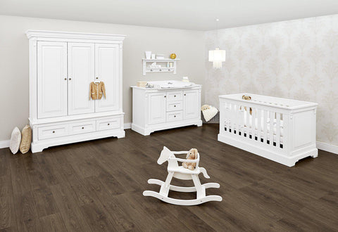 Pinolino Emilia 3 Piece Set - Cot, XL Dresser &  XL Wardrobe - The Stork Has Landed