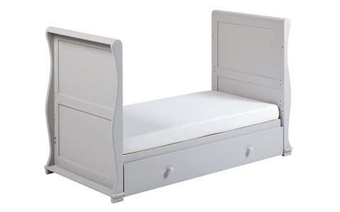 East Coast - Alaska Sleigh Cot Bed, Grey - The Stork Has Landed