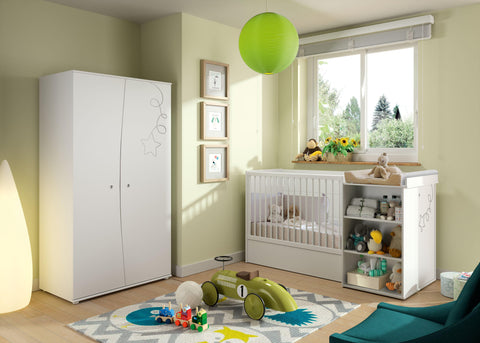 Galipette Adele Compact Cot Bed - The Stork Has Landed