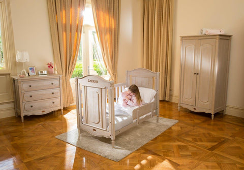 Boori Grace Cot Bed - Antiqued Grey - The Stork Has Landed