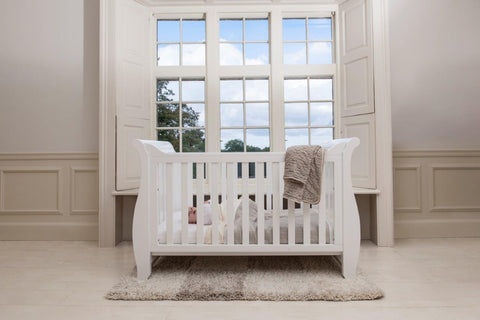 Image of Boori Sleigh Cot bed - White - The Stork Has Landed