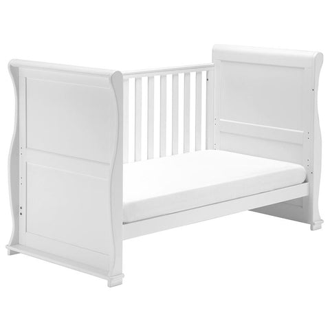 East Coast - Alaska Sleigh Cot Bed - White - The Stork Has Landed
