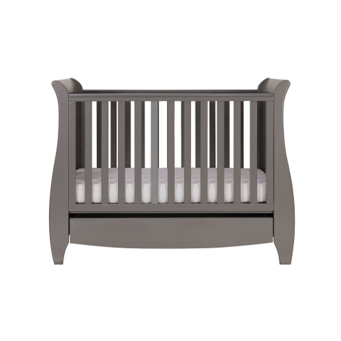 Tutti Bambini Katie 3 Piece Set, Grey with Sprung Mattress - The Stork Has Landed