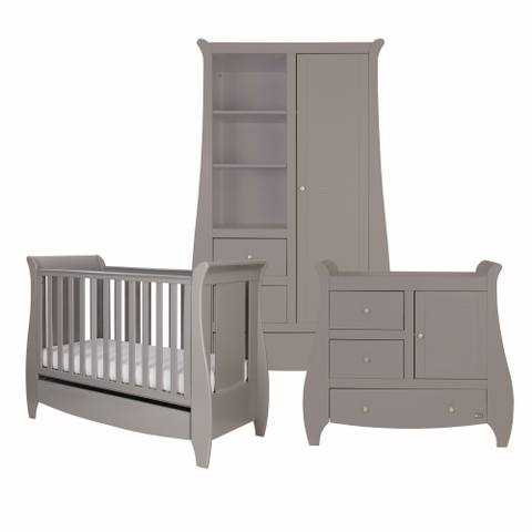 Tutti Bambini - Lucas Grey 3 Piece Set with Sprung Mattress - The Stork Has Landed
