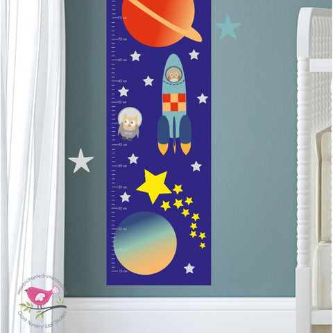 Image of Outer Space Kids Growth Chart - The Stork Has Landed