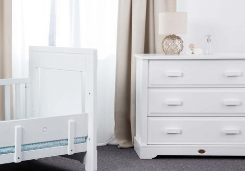 Boori 3 Drawer dresser (with Arched Changing Station) - Barley White - The Stork Has Landed