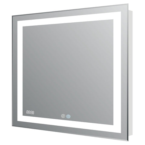 30x30 Aquadom 2018 Daytona LED mirrors are fully redesigned to make your bathroom the most exciting room in your home! New Cool and Warm Light Touch switch.Defogger Dimmer and Clock