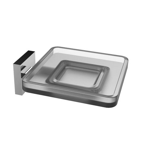 Eviva Plater? Glass Soap Holder Wall Mount (Brushed Nickel)