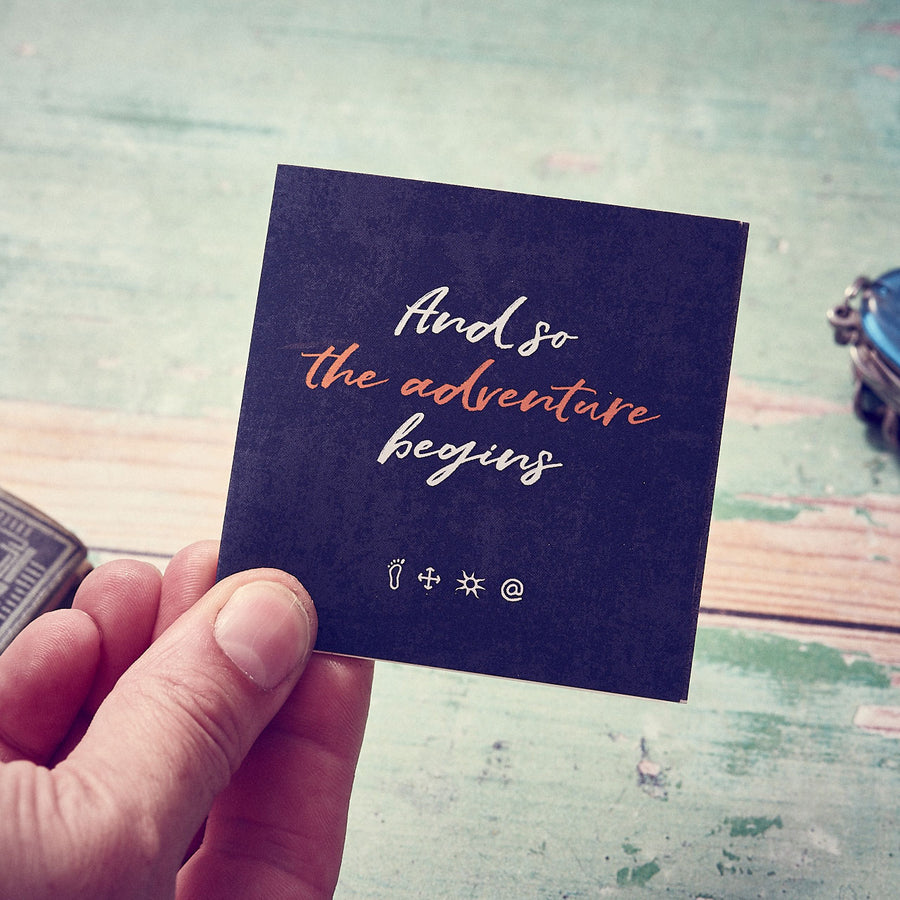 Travel Gift meaning card from Off The Map, unusual gifts for travelers