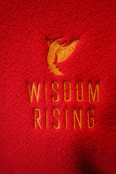 Wisdom Rising Fleece Vest-red-mens