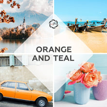 Load image into Gallery viewer, Orange and teal