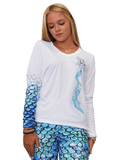 Om Mermaid Aqua UPF 50+ Performance Tee