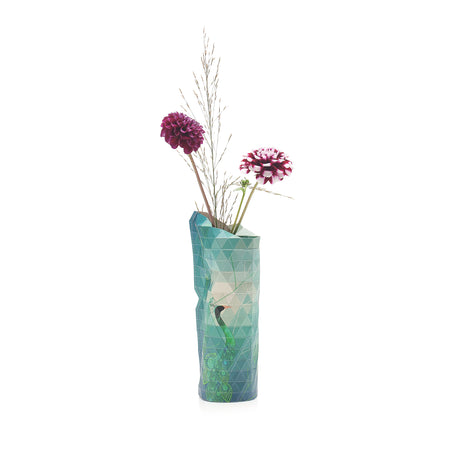 Paper Vase Cover - Peacock - Small