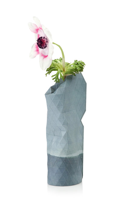 Paper Vase Cover - Watercolor Blue - Small