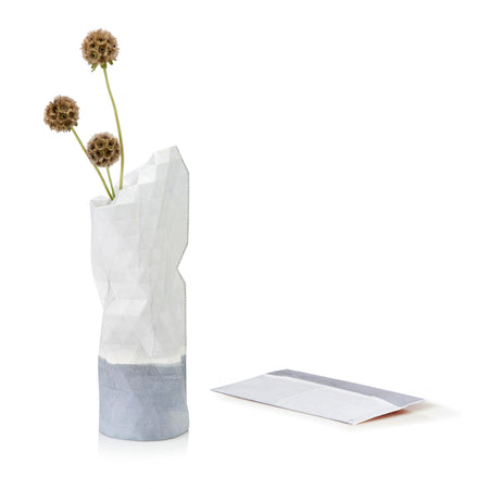 Paper Vase Cover - Watercolor White - Small