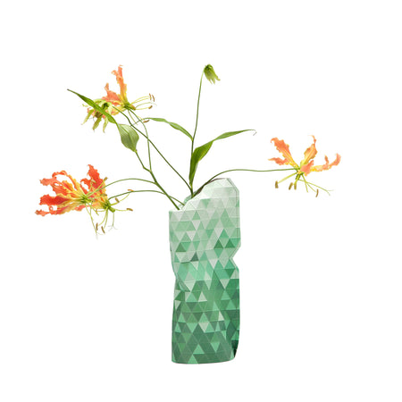 Paper Vase Cover - Green Gradient - Small