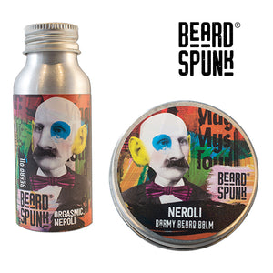 Beard Spunk ® NEROLI Beard Balm 30ml & NEROLI Beard & Moustache Oil 50ml. Beard Spunk Beard Oil & Moustache Grooming Kits