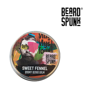Beard Spunk ® SWEET FENNEL Barmy Beard Balm 30ml. Beard Spunk Beard Oil & Moustache Grooming Kits