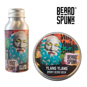 Beard Spunk ® YLANG YLANG Beard Balm 30ml & YLANG YLANG Beard & Moustache Oil 50ml. Beard Spunk Beard Oil & Moustache Grooming Kits