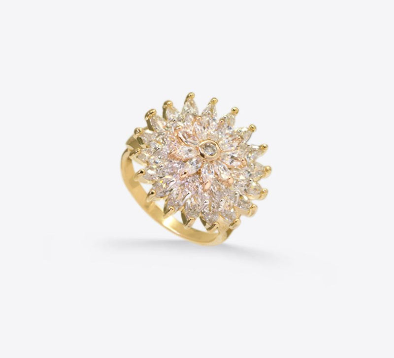 Pave Rings, Antique Design Pave Rings Online - Mahroze