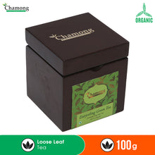 Premium Green Tea in Walnut Finish Wooden Box