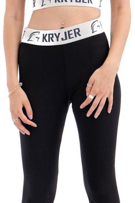 Womens Legacy Legging Black/White