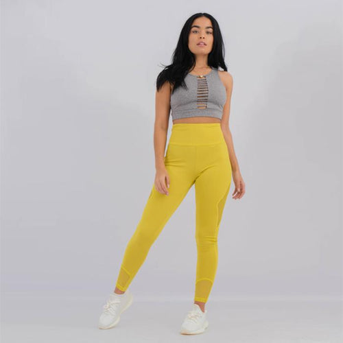 Womens Leggings Lace Yellow