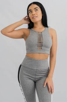 Womens Metro Sports Bra Grey