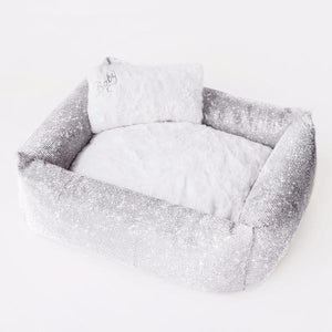 Crystal Collection Dog Bed Silver