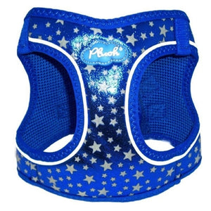 Navy Plush Step In Vest Glitter Glow Harness