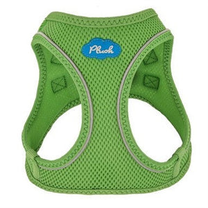 Grass Green Plush Step In Vest Air-Mesh Harness