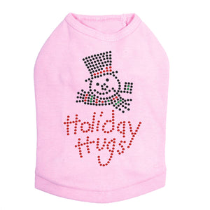 Holiday Hugs - Dog Tank Pink