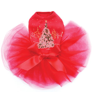 Christmas Tree in the City - Red Tutu