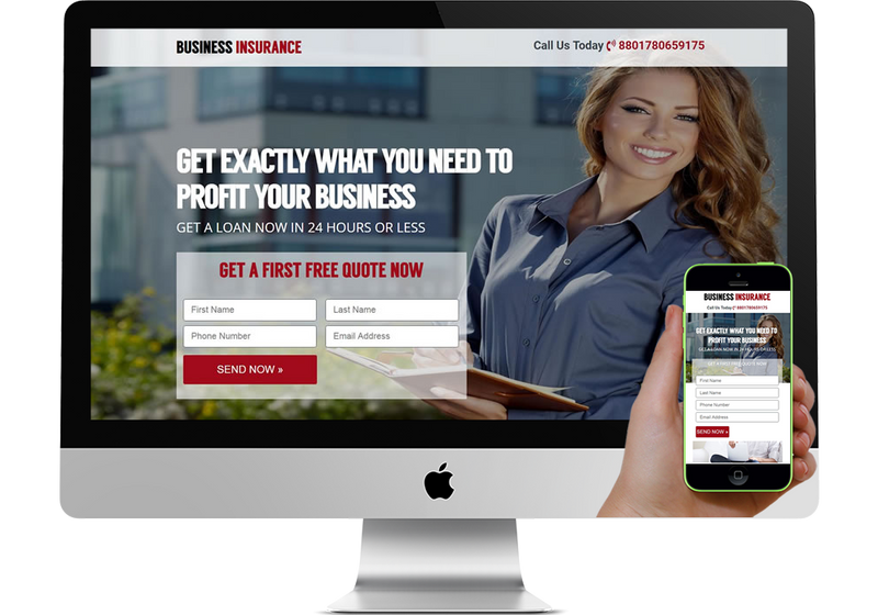 Business Insurance Marketing Page