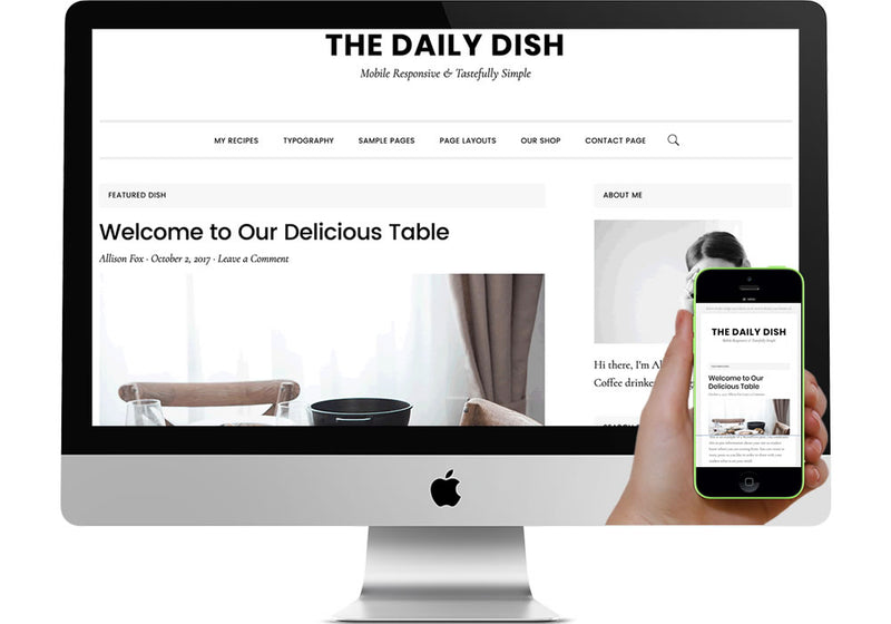Daily Dish WordPress Website