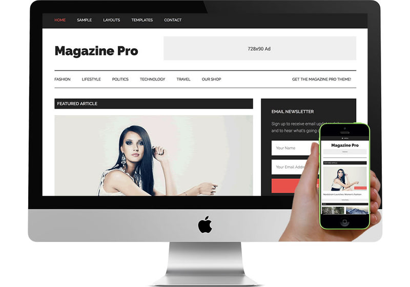 Magazine Pro WordPress Website