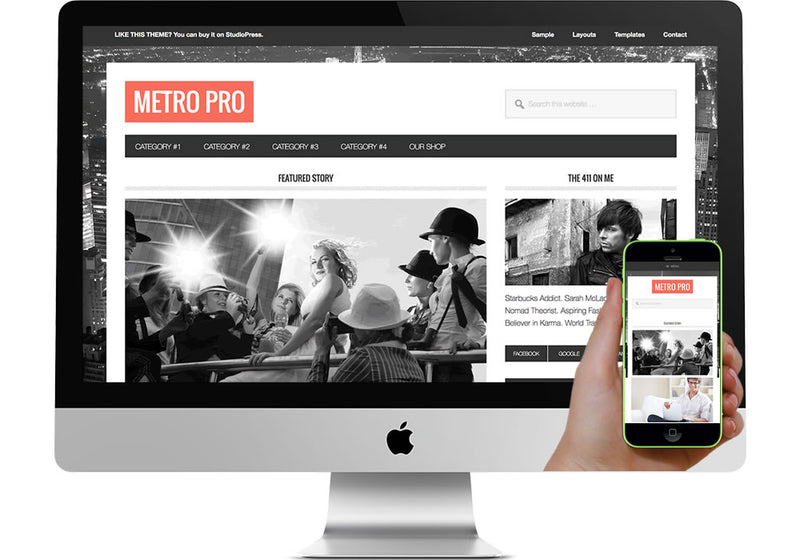 Metro Pro WordPress Website