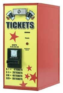 Bill To Ticket Dispenser - Front Load - Gumball Machine Warehouse
