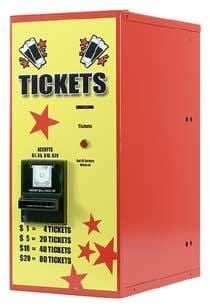 Bill To Ticket Dispenser - Rear Load - Gumball Machine Warehouse