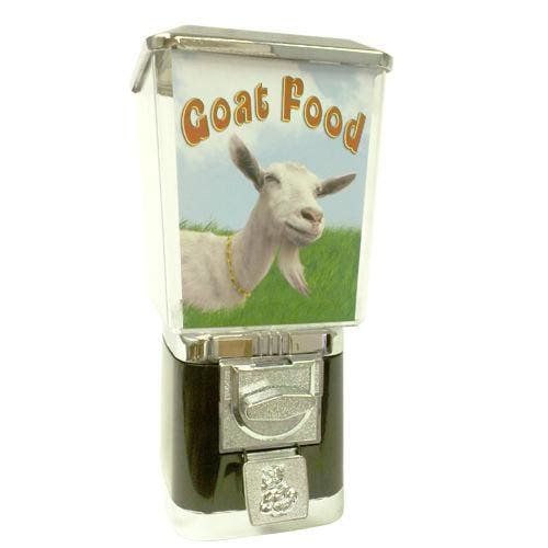 Coin Operated Goat Food Dispenser - Gumball Machine Warehouse
