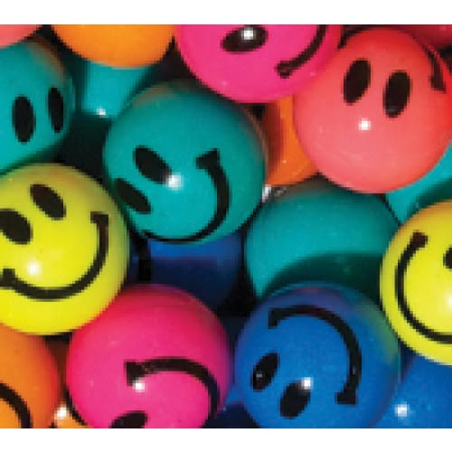 Happy Faces Bouncy Balls 32Mm - Gumball Machine Warehouse