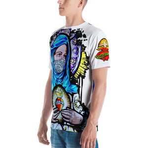 Sacred full print men's tee-white