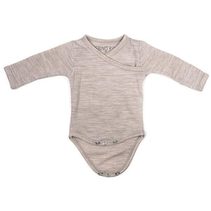 Merino Kids Cocooi Bodysuit - Honey Oat Melange - Bodies & Vests - Natural Baby Shower