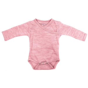 Merino Kids Cocooi Bodysuit - Raspberry Melange - Bodies & Vests - Natural Baby Shower