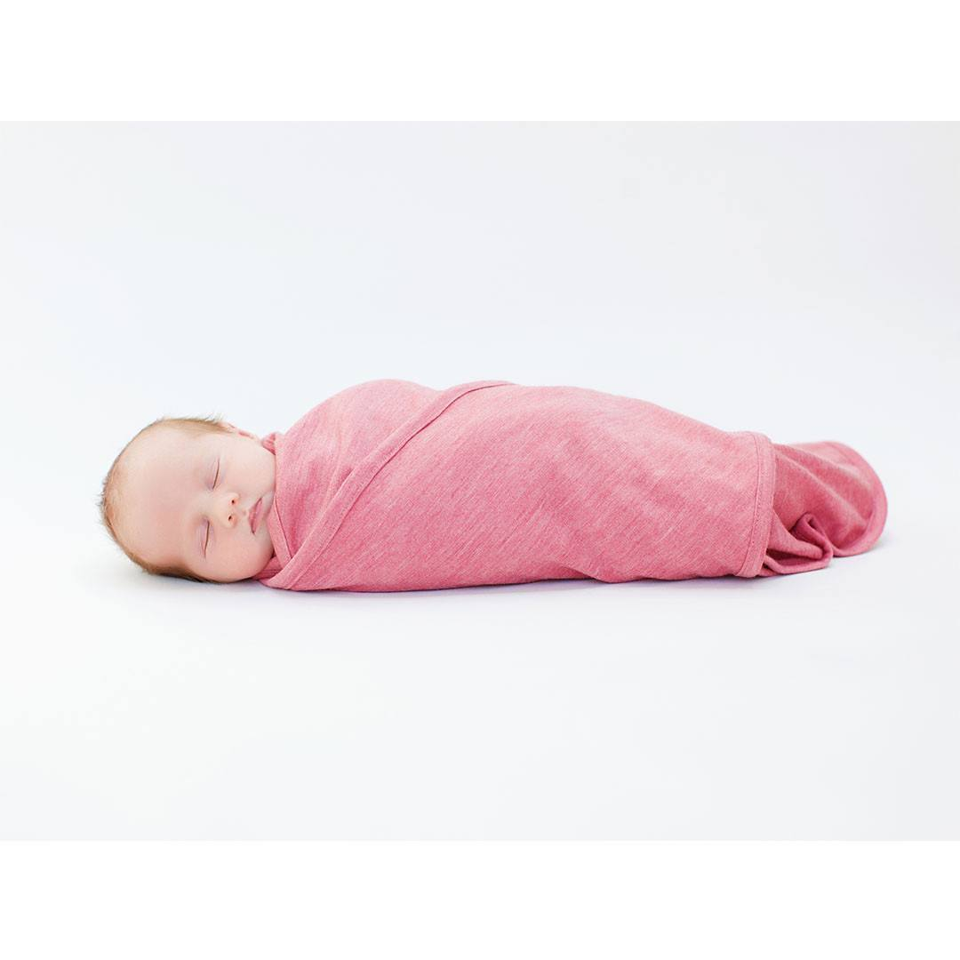 Merino Kids Cocooi Swaddle & Hat - Raspberry - Swaddling Wraps - Natural Baby Shower